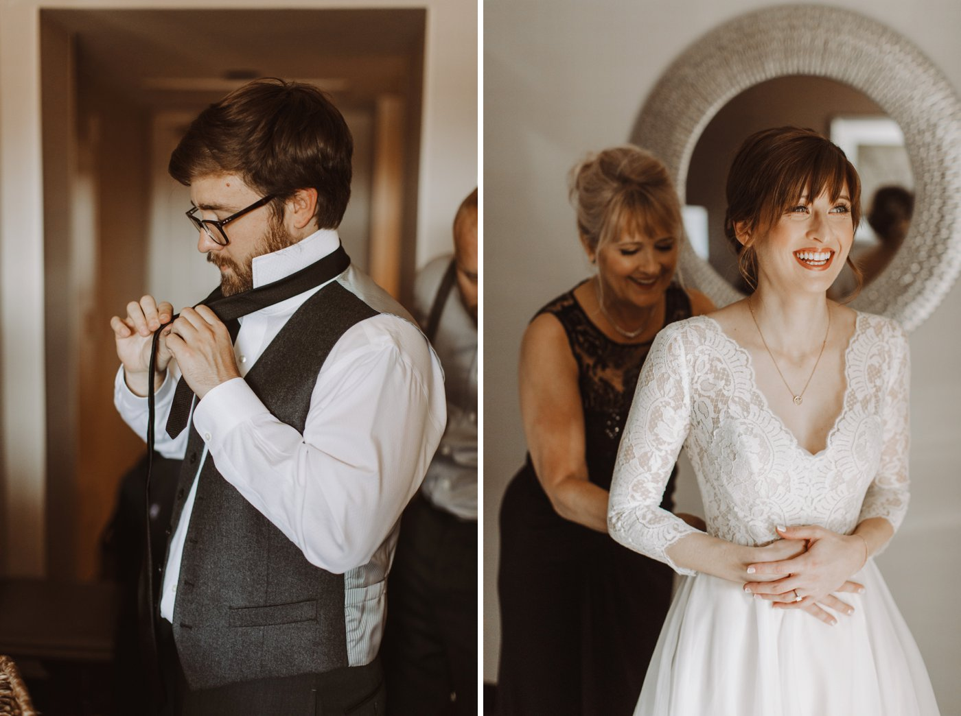 bride and groom getting ready details Mt. Washington Mill Dye House Baltimore wedding photographer