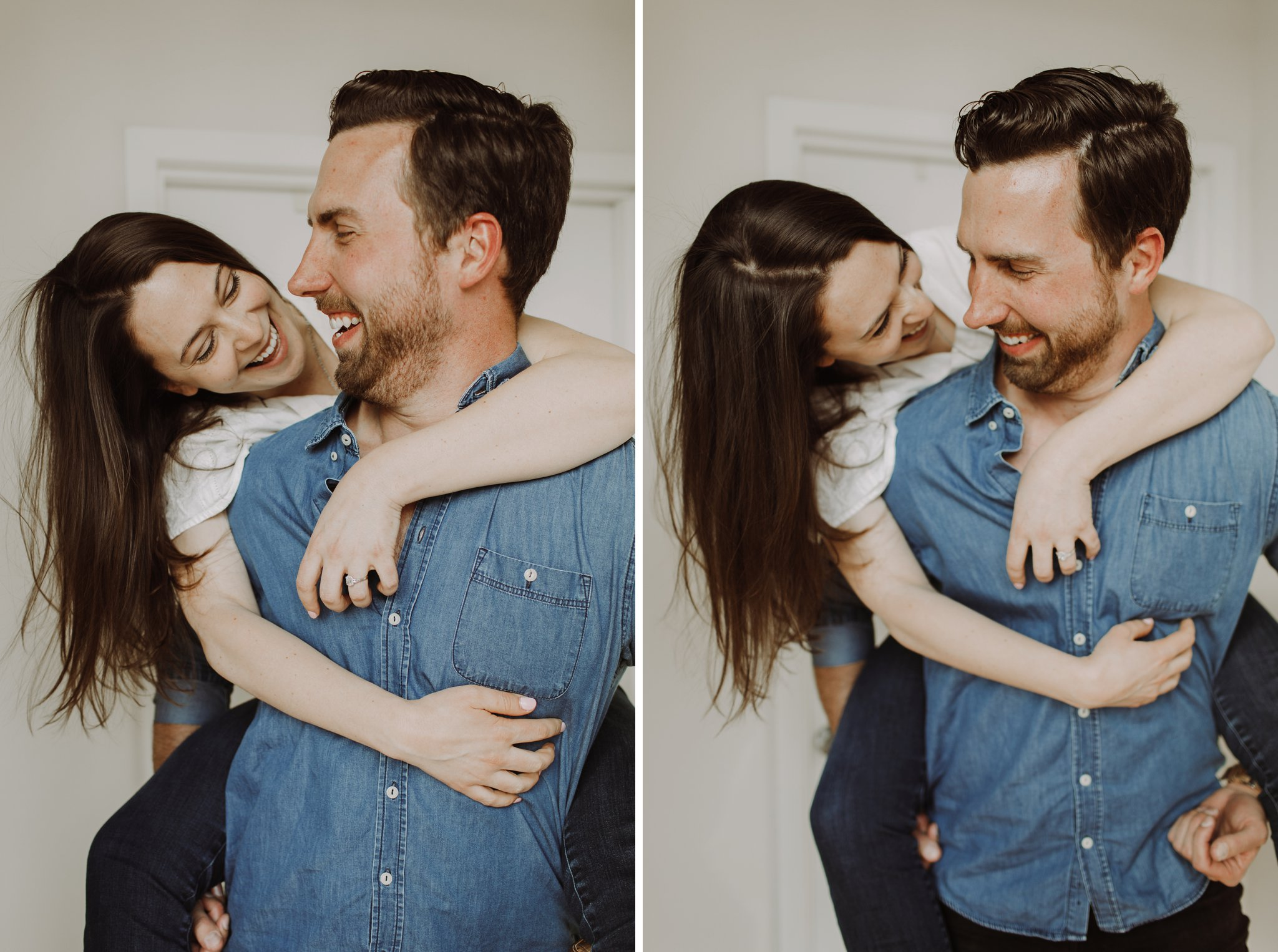 in-home lifestyle Dumbo Brooklyn engagement photography