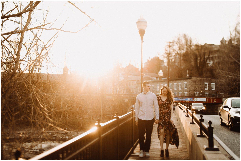 golden hour proposal Ellicott City engagement photographer