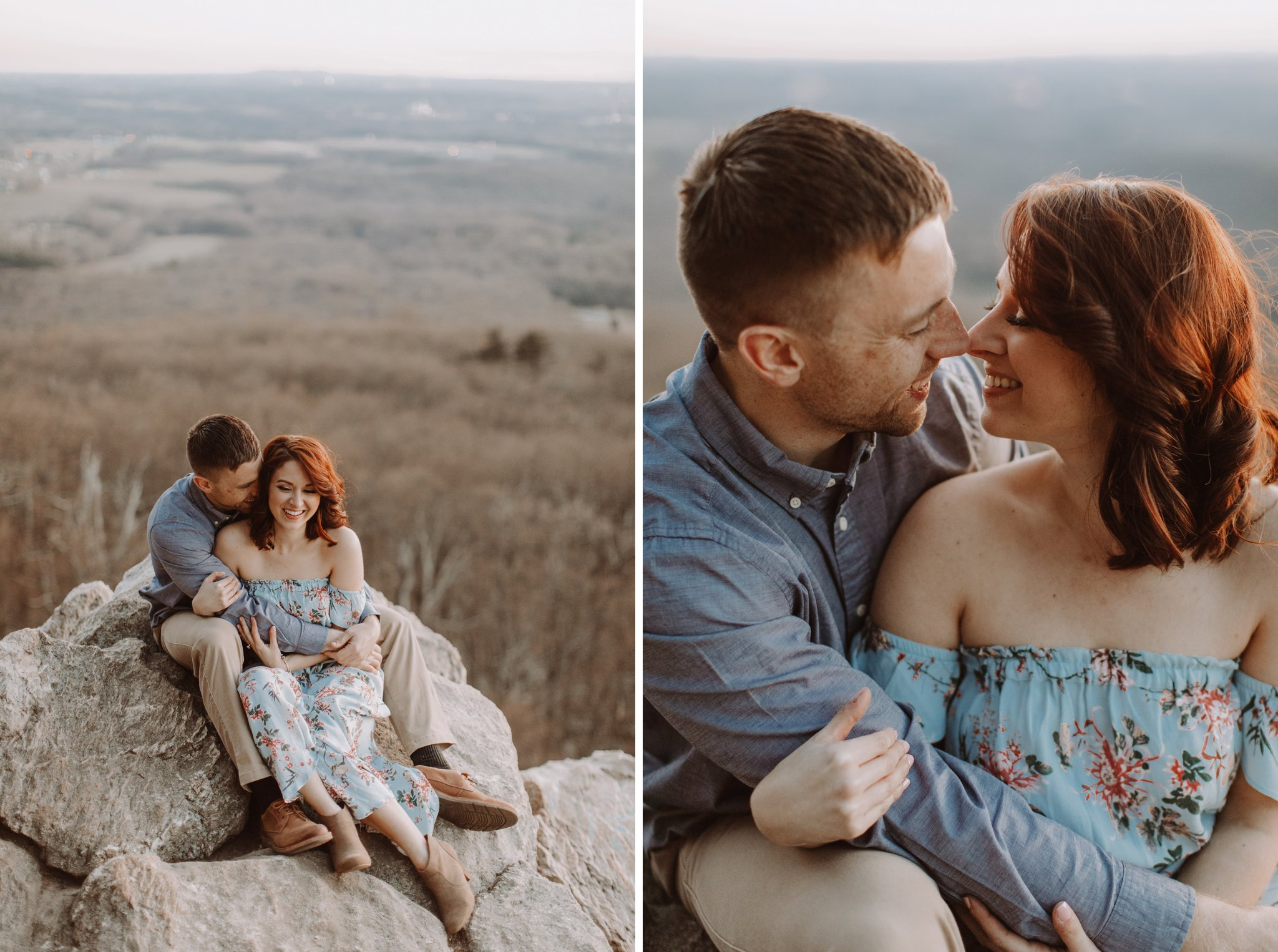 sunset mountaintop engagement session Baltimore wedding photographer