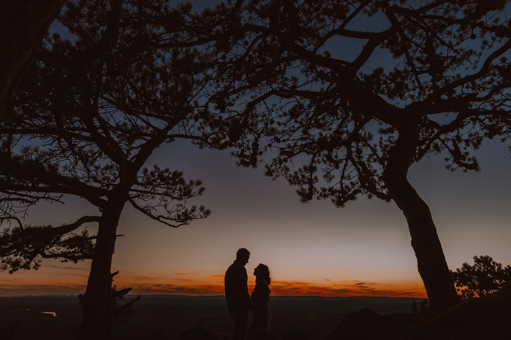 sunset mountaintop engagement session Baltimore wedding photographer