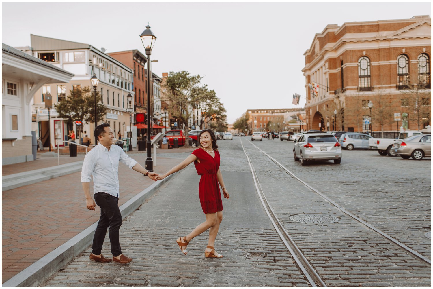 lifestyle engagement session Fells Point Baltimore Maryland wedding photographer