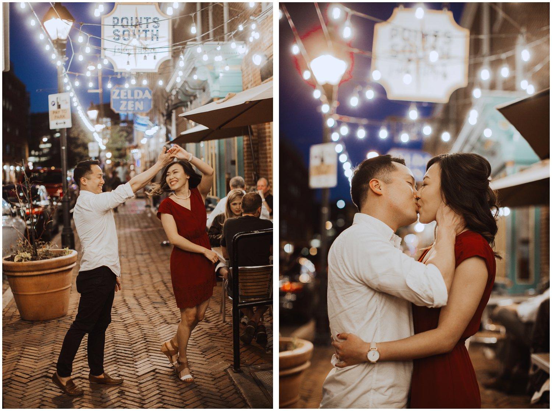 lifestyle engagement session Fells Point Baltimore Maryland wedding photographer