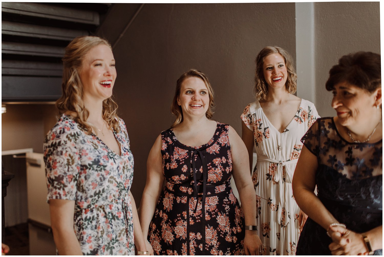 spring floral bridesmaids dresses Baltimore wedding photographer