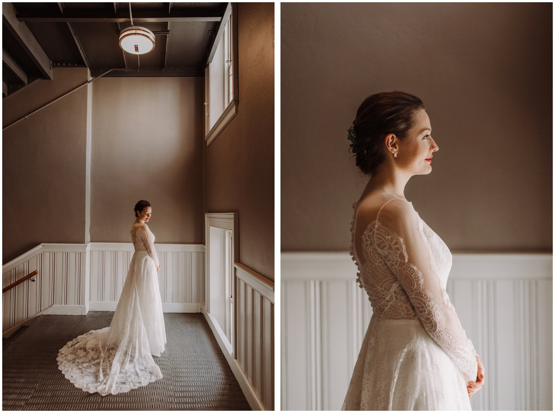 Baltimore center stage bridal portraits Baltimore wedding photographer