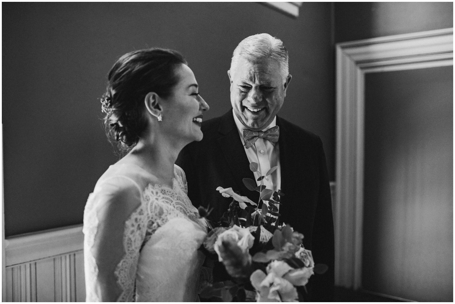 emotional father daughter first look Baltimore Maryland Wedding photographer