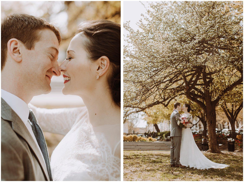 Mount Vernon spring wedding Baltimore wedding photographer Lucky Penny Floral bridal bouquet