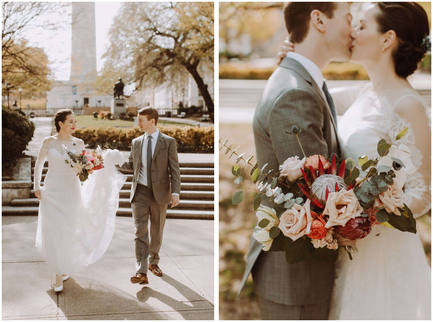 Mount Vernon spring wedding Baltimore wedding photographer Lucky Penny Floral bridal bouquet