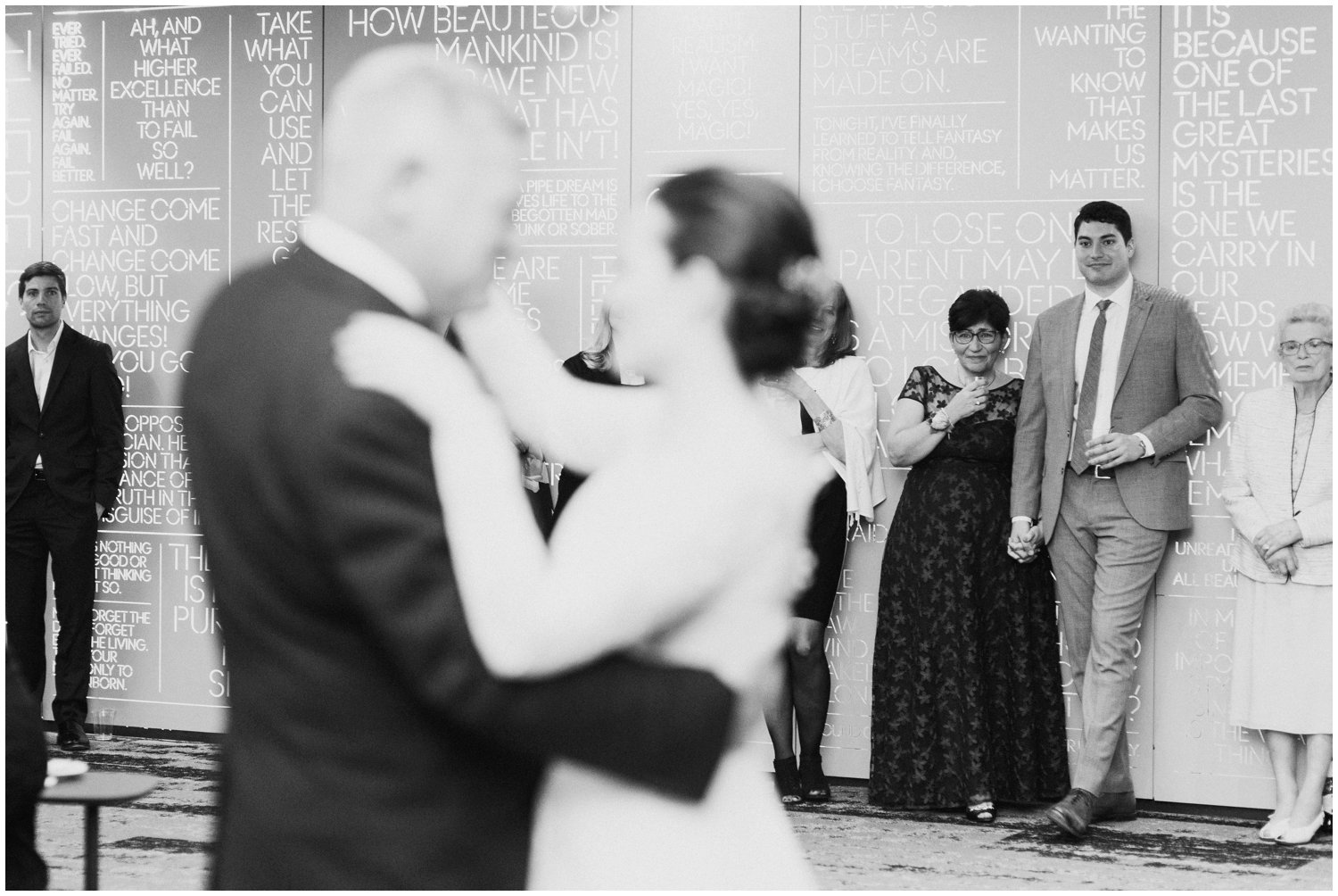 Baltimore Center Stage wedding first dance Baltimore wedding photographer