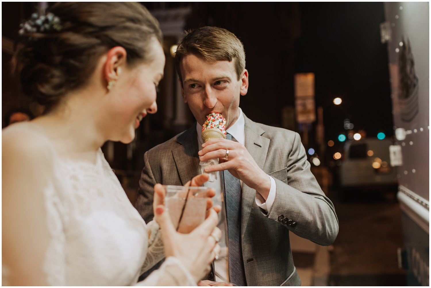ice cream truck wedding Baltimore wedding photographer