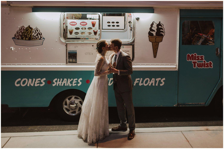 ice cream truck wedding Baltimore wedding photographer