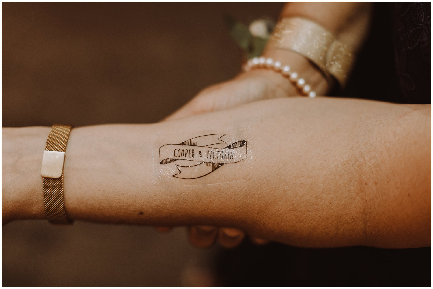 temporary wedding tattoos Baltimore city photographer