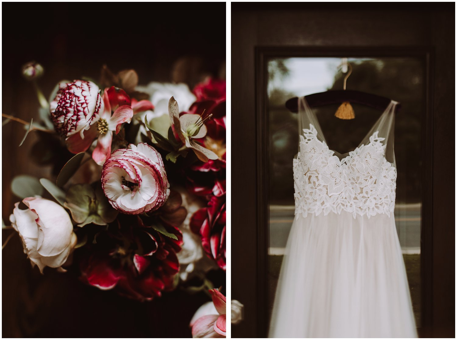 floral BHLDN wedding dress Annapolis wedding photographer