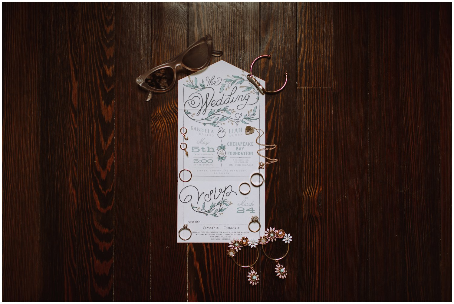 Intimate beach wedding minted invitations Annapolis wedding photographer