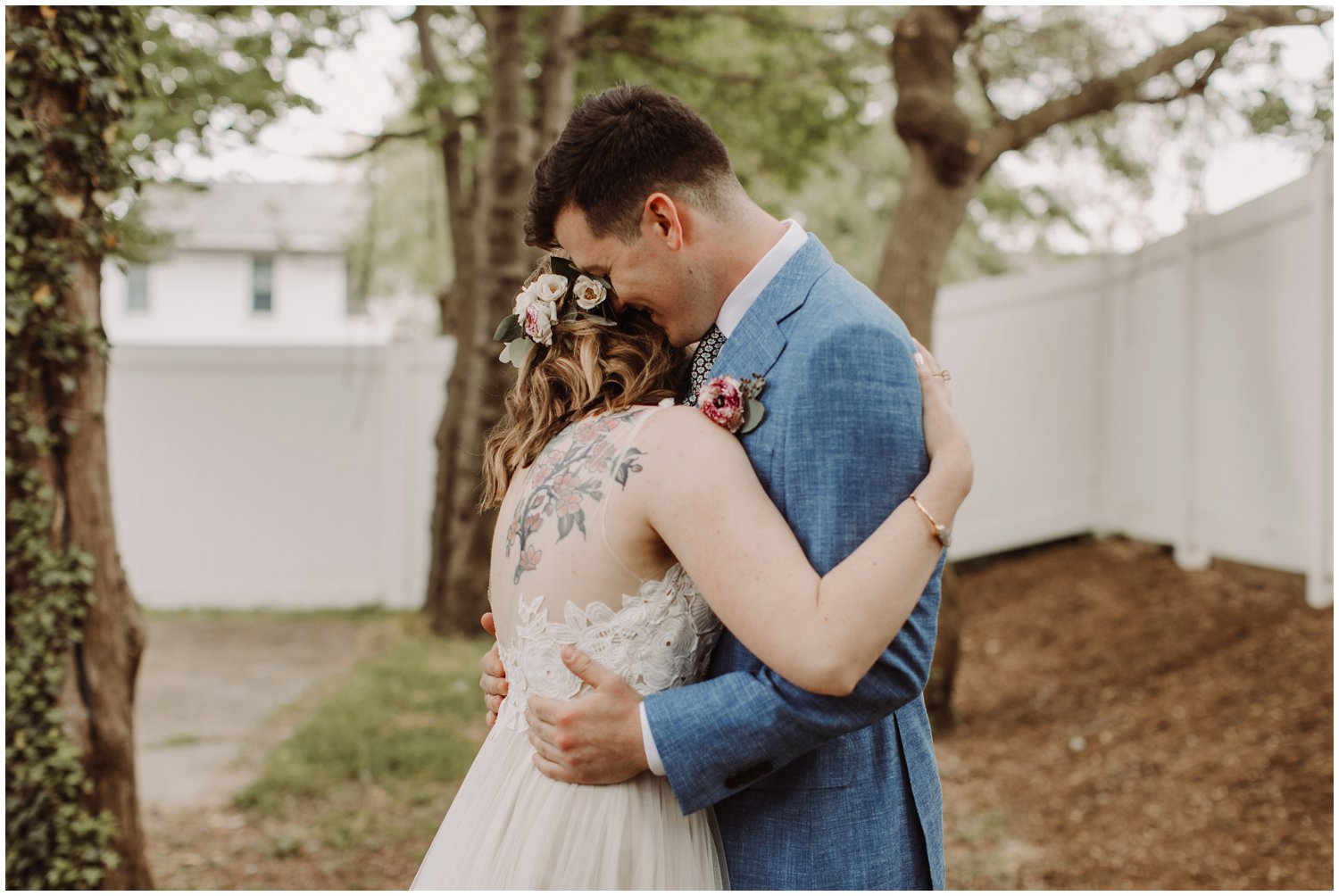 emotional intimate first look Annapolis Maryland wedding photographer