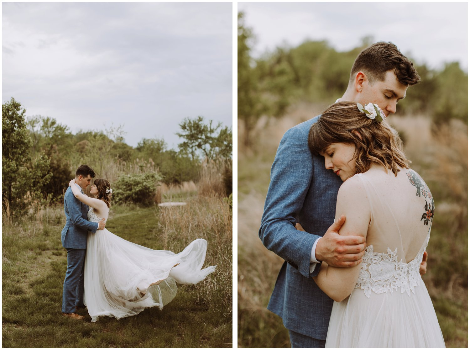 BHLDN bridal gown intimate beach wedding photographer