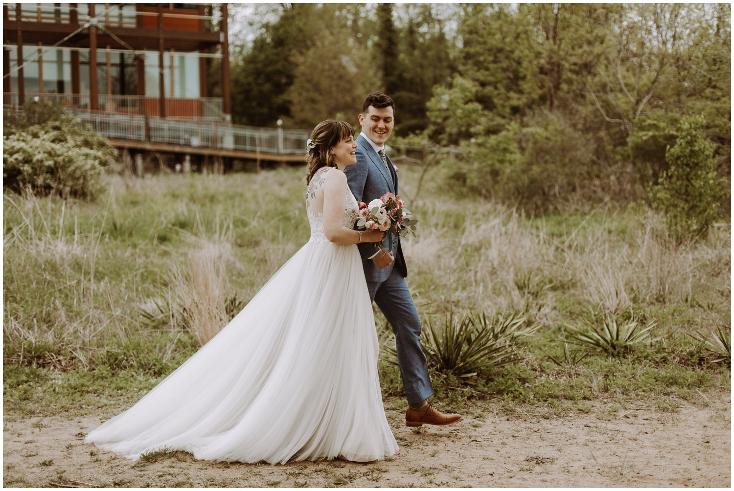 BHLDN bridal gown Chesapeake Bay Foundation wedding Annapolis photographer