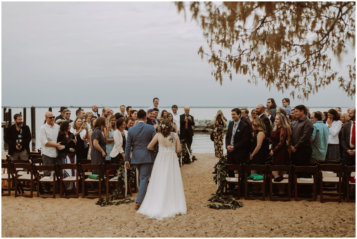 Chesapeake Bay Foundation intimate beach wedding Annapolis photographer
