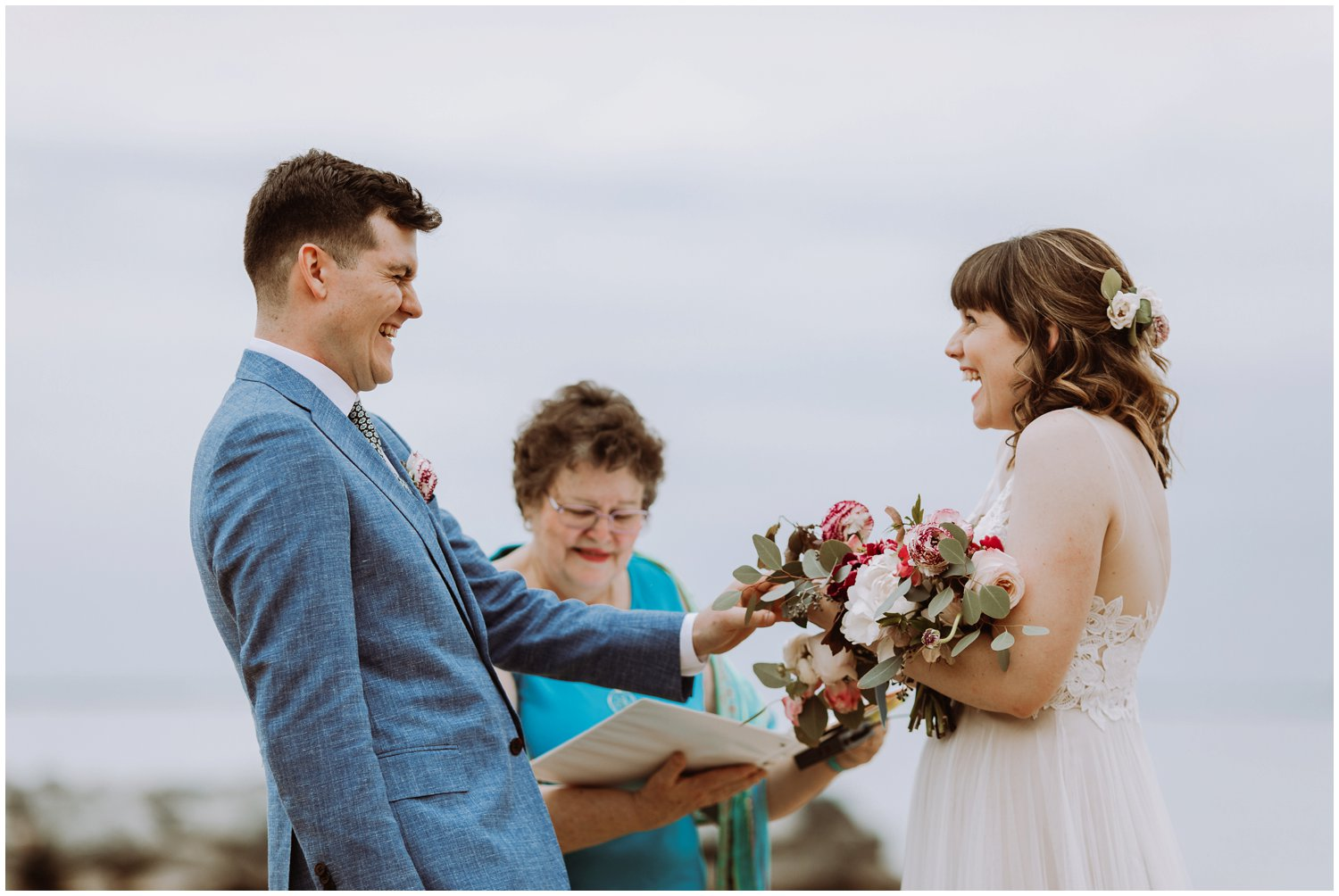 emotional intimate beach wedding Annapolis wedding photographer