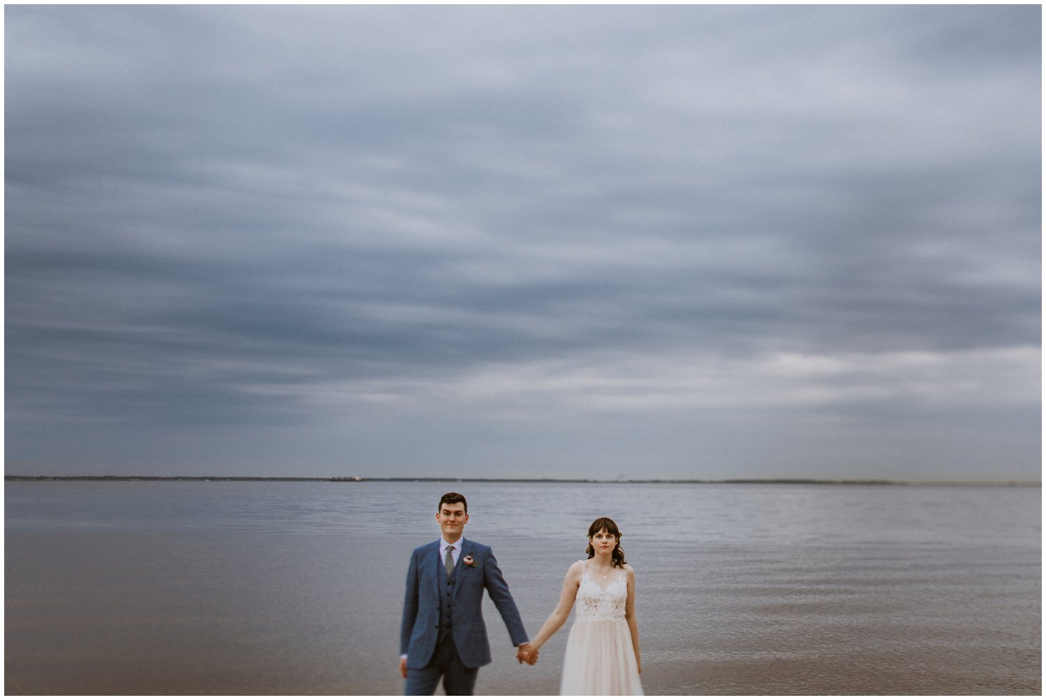 Intimate beach Chesapeake Bay Foundation wedding Annapolis photographer