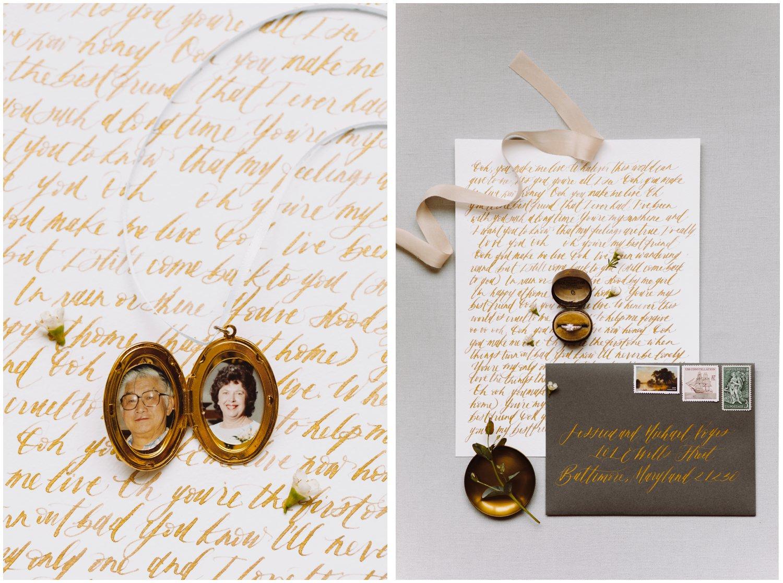 Baltimore wedding photographer   floral wedding invitation details