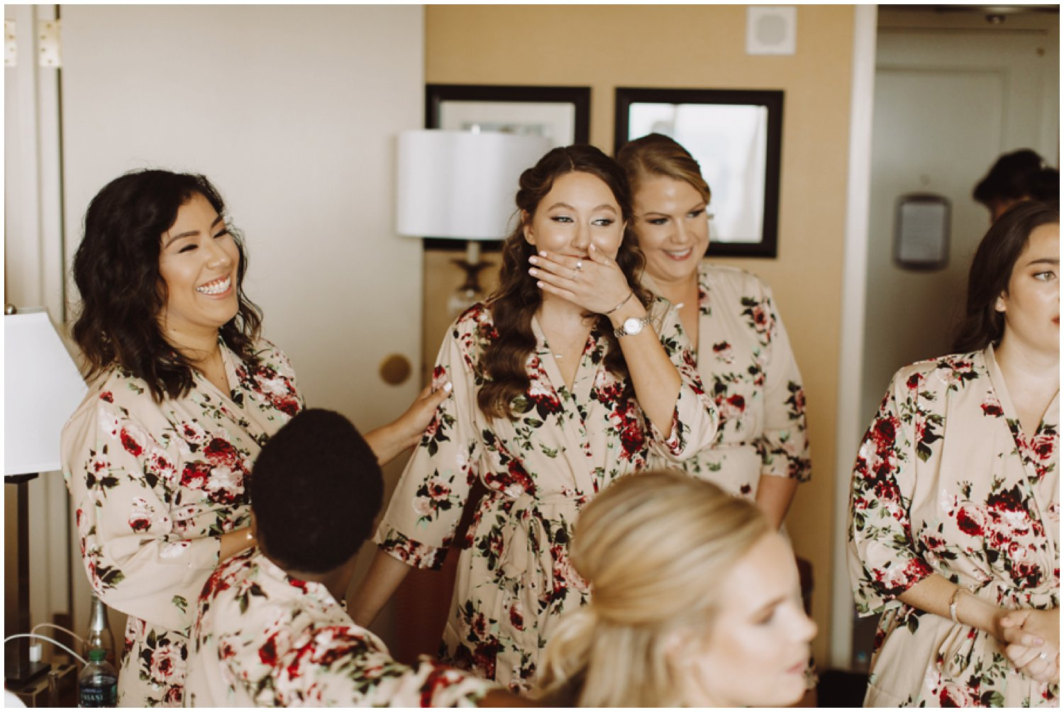 Baltimore wedding photographer | bridal getting ready portraits | bridesmaids first look