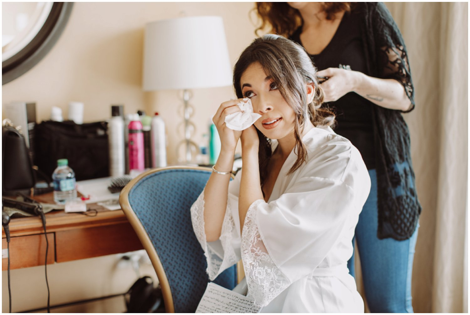 Baltimore wedding photographer | bridal getting ready portraits