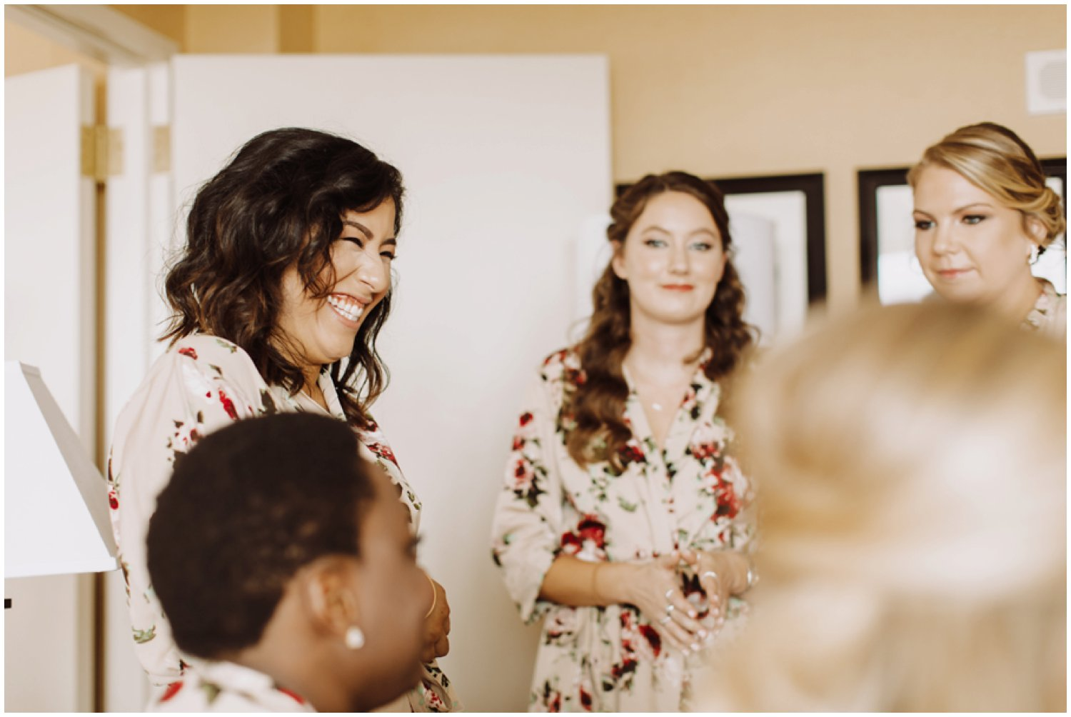 Baltimore wedding photographer   bridal getting ready portraits   bridesmaids first look
