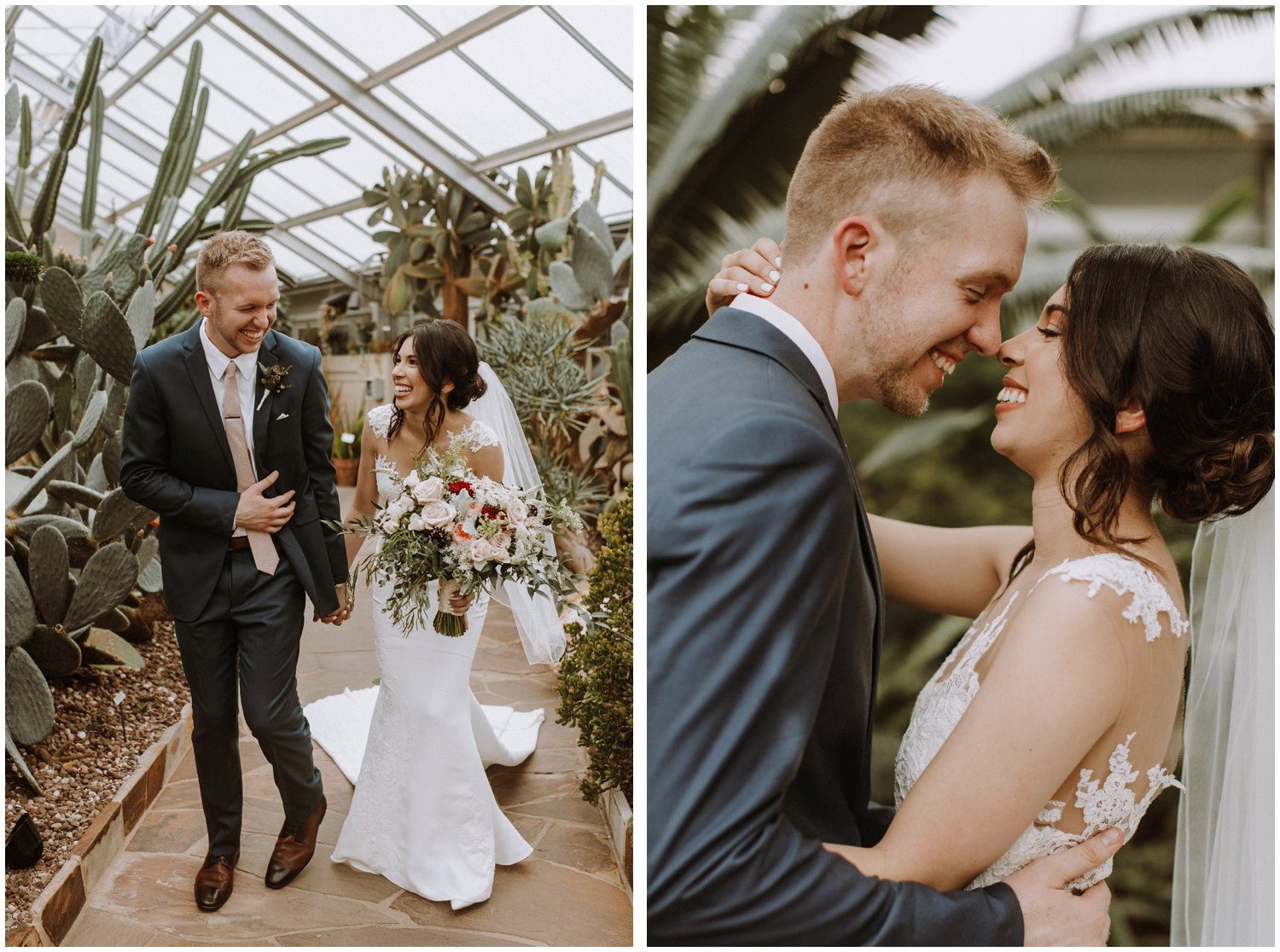 Baltimore wedding photographer | bride and groom first look | greenhouse wedding | Rawlings conservatory wedding