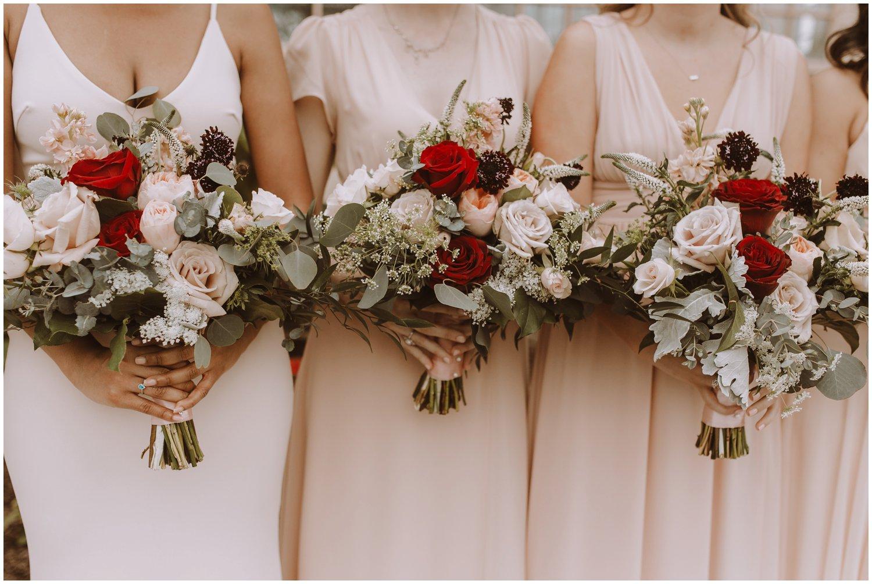 Baltimore wedding photographer   bridesmaids greenhouse portraits   greenhouse wedding   Rawlings conservatory wedding