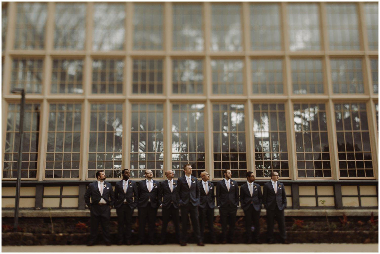 Baltimore wedding photographer   bridal party greenhouse portraits   greenhouse wedding   Rawlings conservatory wedding