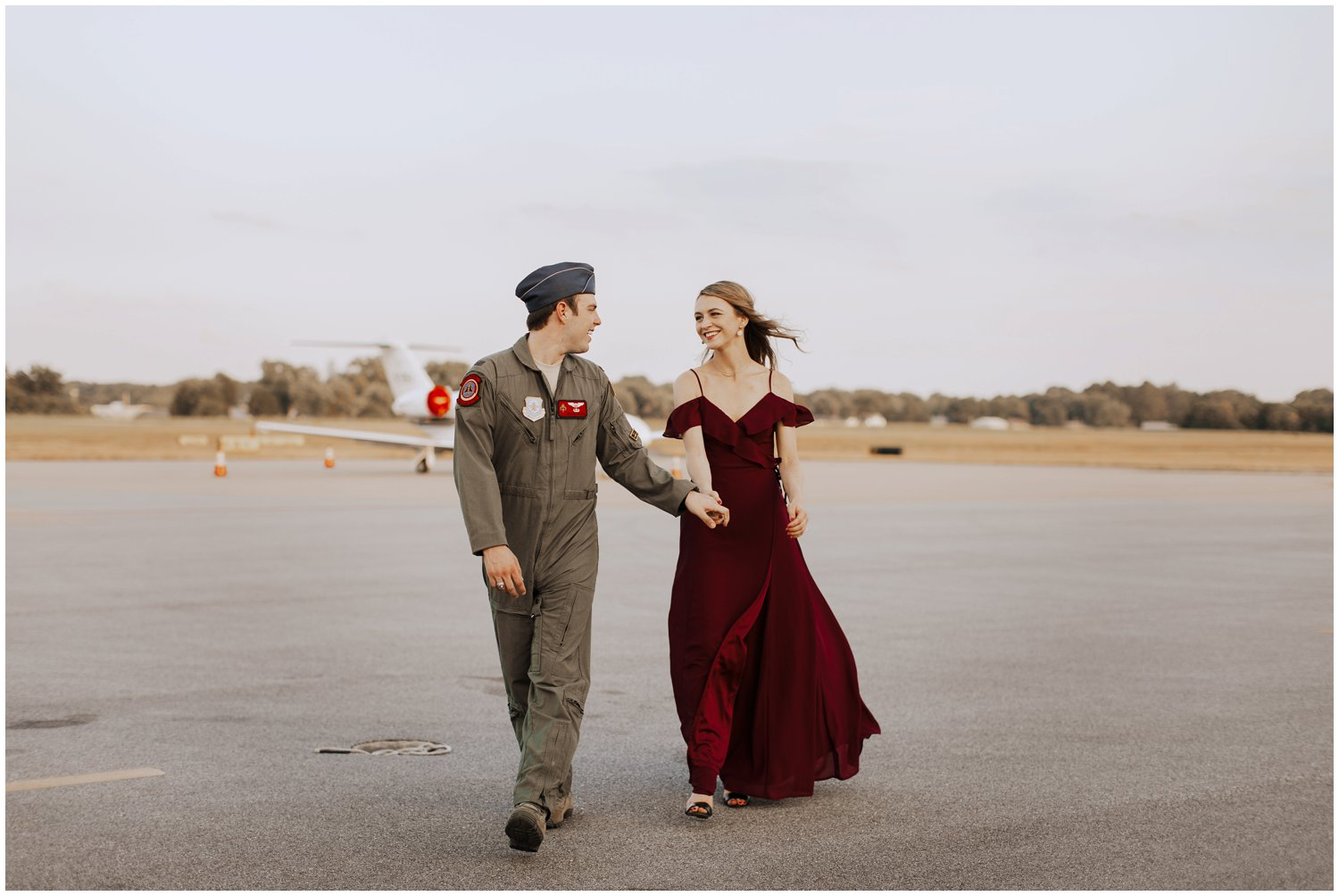 sunset engagement photos | Baltimore wedding photographer | Easton wedding photographer | Eastern shore engagement photography | Easton Airport Engagement photography