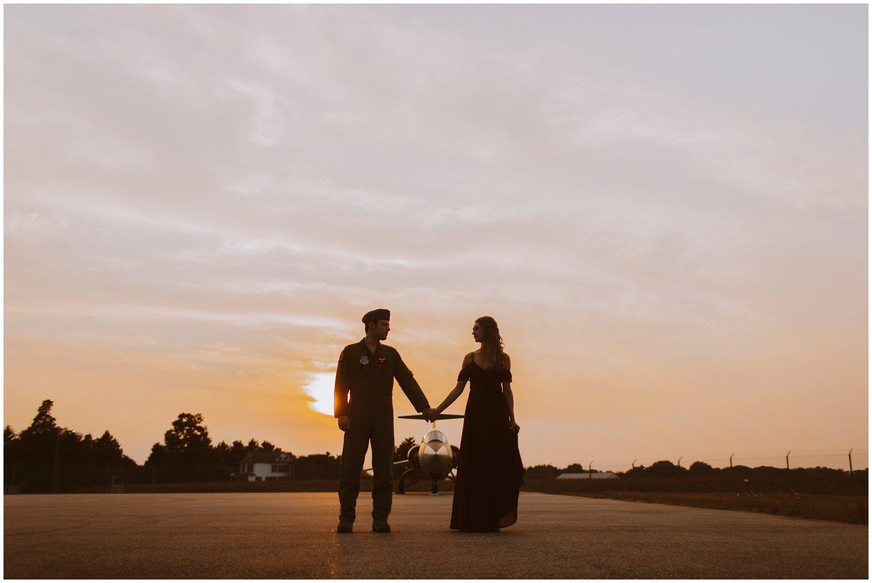 sunset engagement photos | Baltimore wedding photographer | Easton wedding photographer | Eastern shore engagement photography | Easton Airport Engagement photography