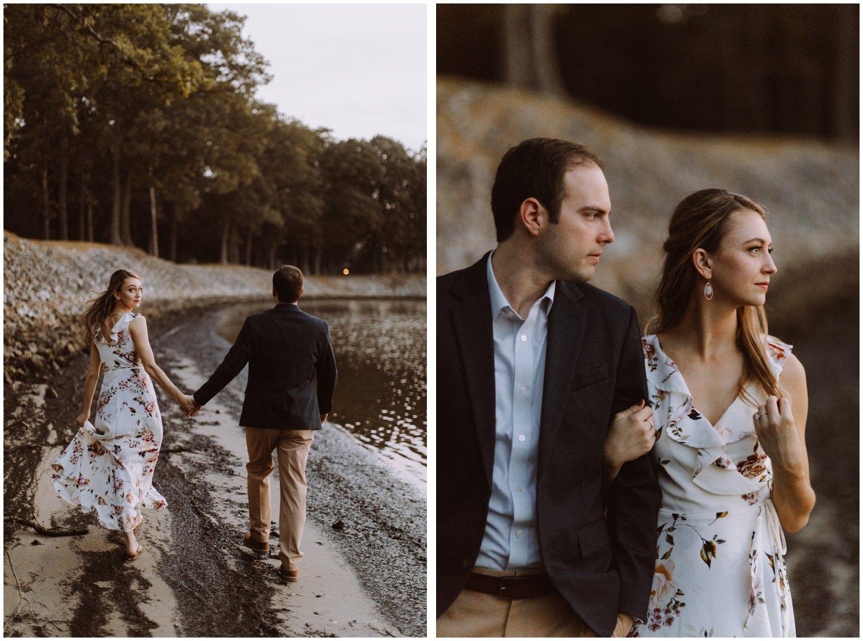 blue hour engagement photos | Baltimore wedding photographer | Easton wedding photographer | Eastern shore engagement photography