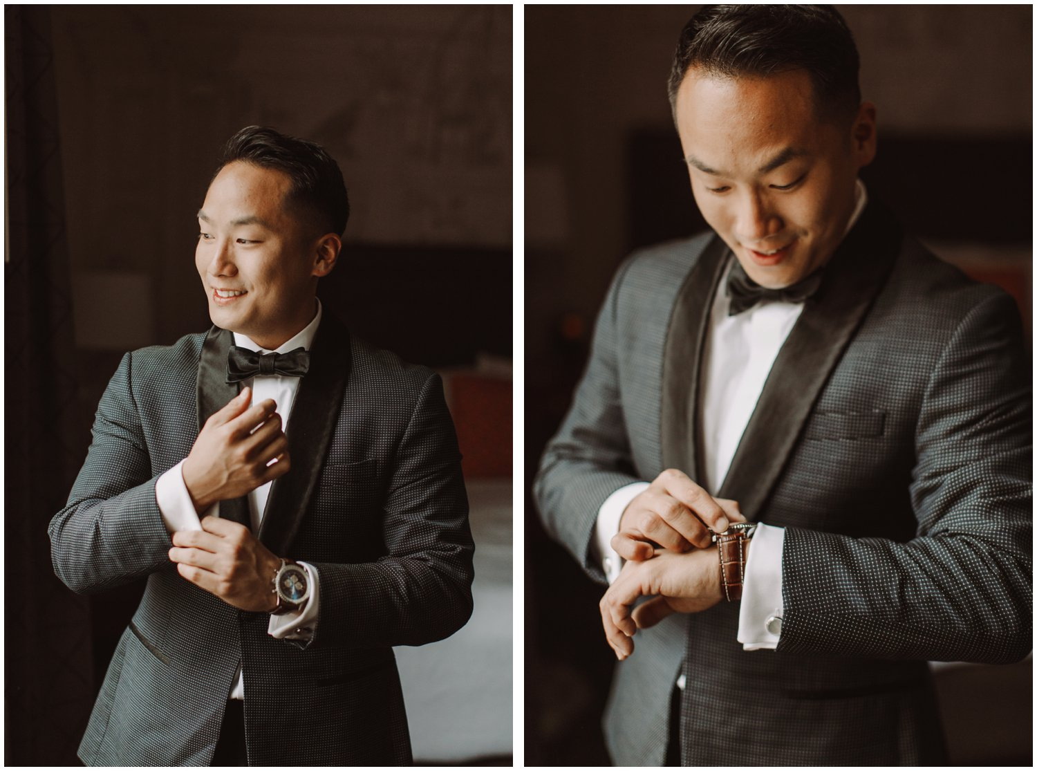Peabody Library Wedding | Hotel Revival Baltimore Wedding | Art Deco Wedding | Baltimore City Wedding | Kate Ann Photography | Groom Getting Ready Portraits