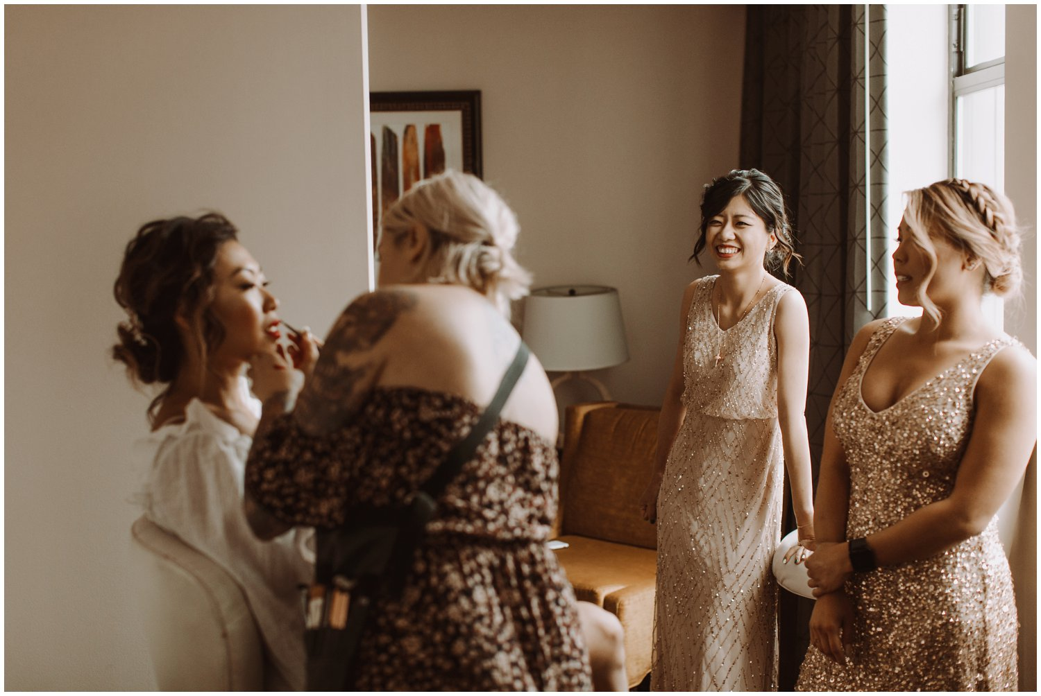 Peabody Library Wedding | Hotel Revival Baltimore Wedding | Art Deco Wedding | Baltimore City Wedding | Kate Ann Photography | Bride Getting Ready Photography