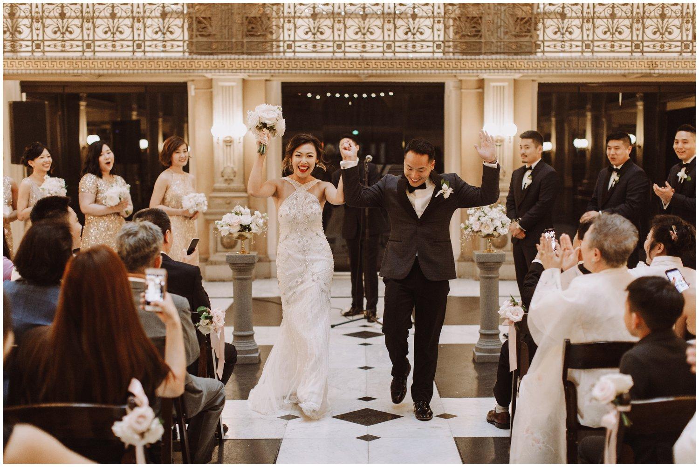 Peabody Library Wedding Ceremony | Baltimore Wedding Photographer | Art Deco Wedding Photography | Baltimore City Wedding | Kate Ann Photography
