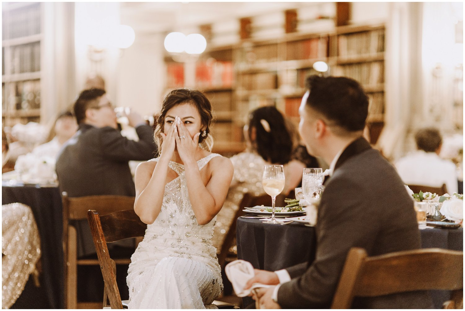 Peabody Library Wedding reception | Baltimore Wedding Photographer | Art Deco Wedding Photography | Intimate Emotional Wedding Story | Kate Ann Photography