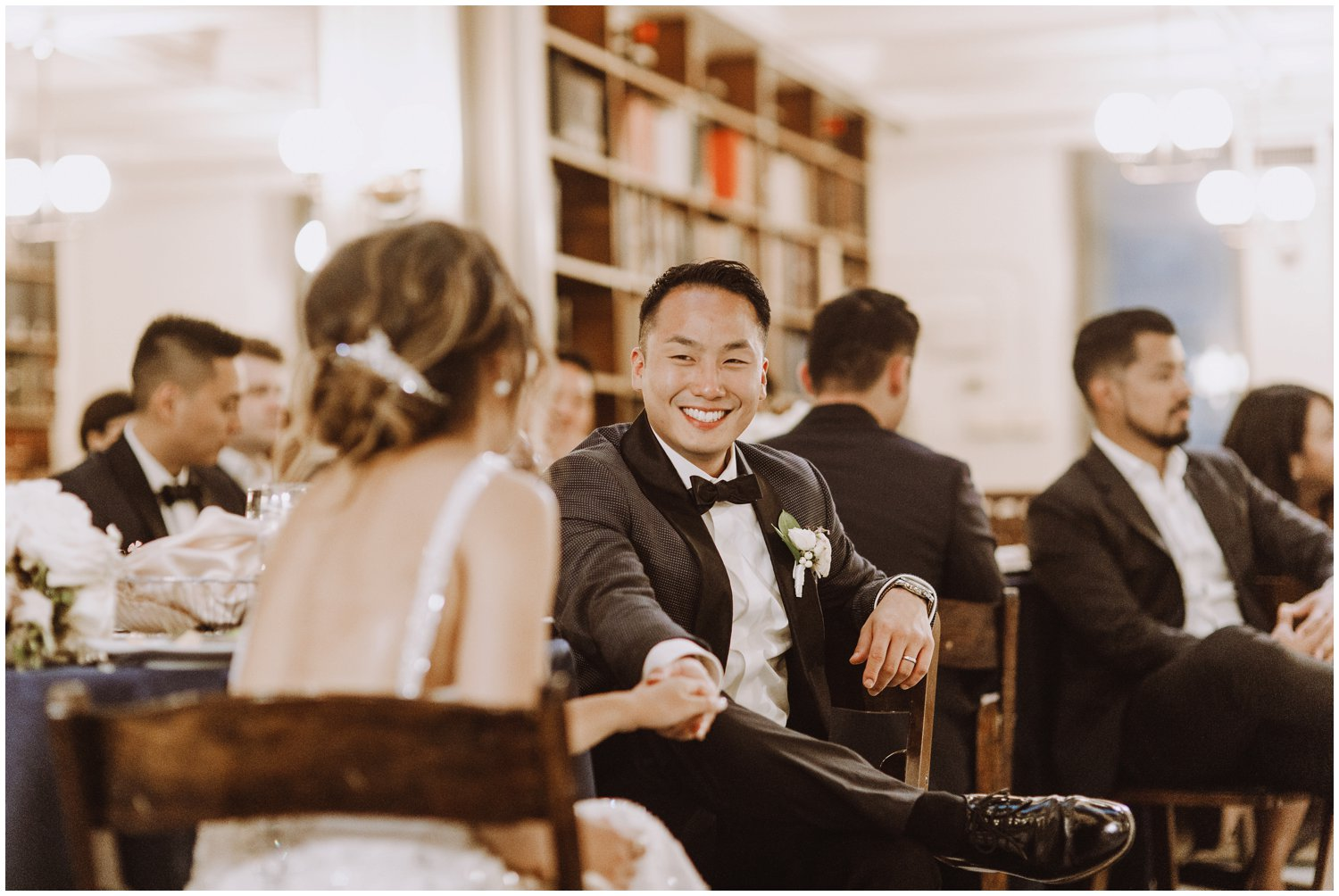 Peabody Library Wedding reception | Baltimore Wedding Photographer | Art Deco Wedding Photography | Baltimore City Wedding | Kate Ann Photography