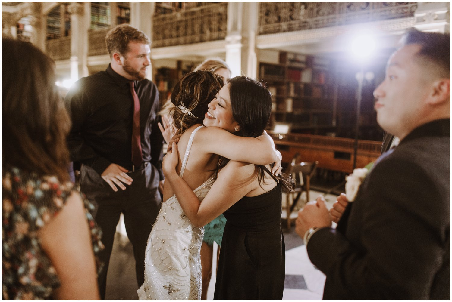 Peabody Library Wedding reception | Baltimore Wedding Photographer | Art Deco Wedding Photography | Kate Ann Photography