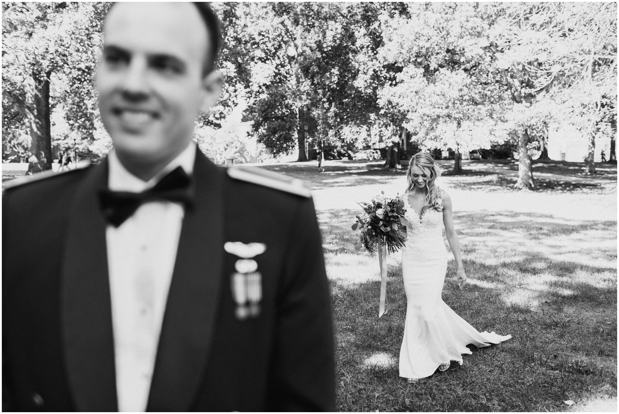 Air Force Military Wedding First Look