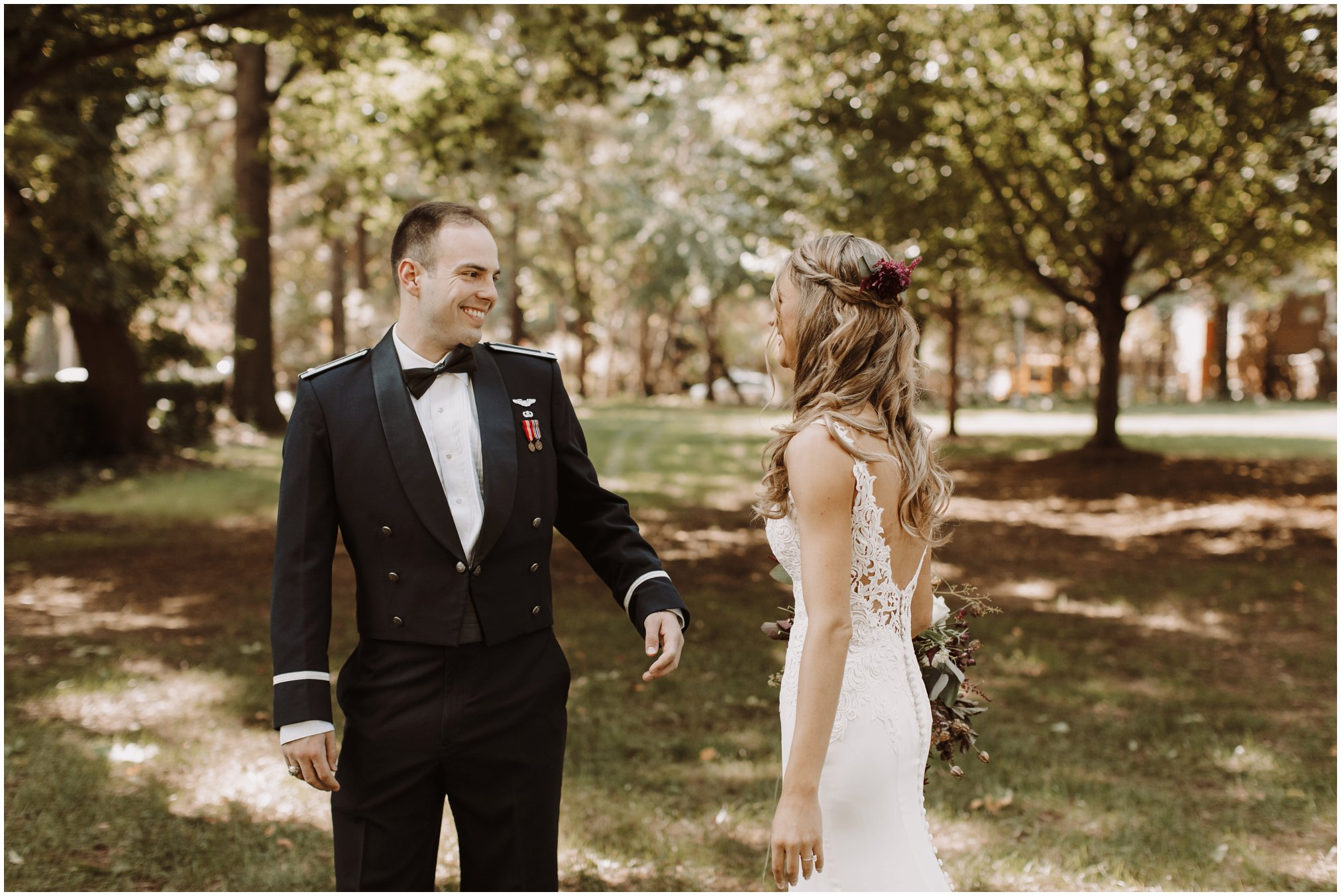 Annapolis Wedding Photographer First Look Pictures