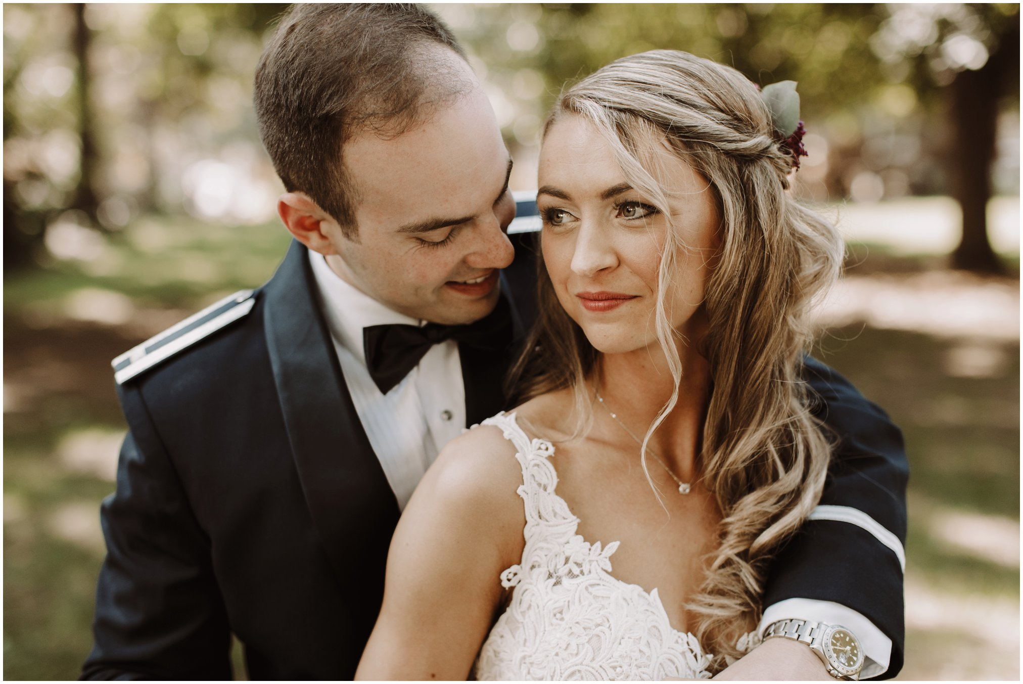 Air Force Bride and Groom Portraits in Annapolis