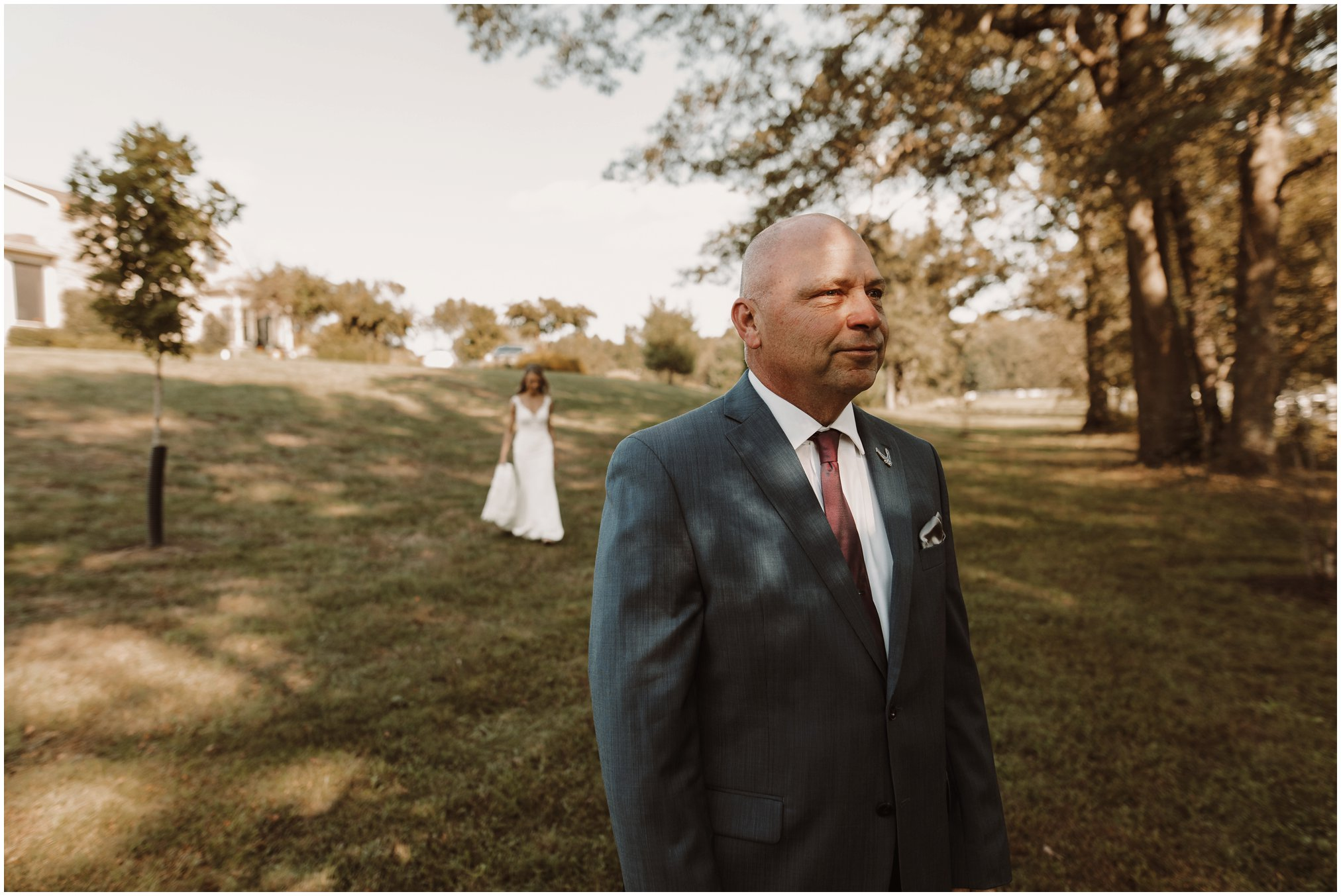 TImberlake Farms Wedding Bride and Dad First Look