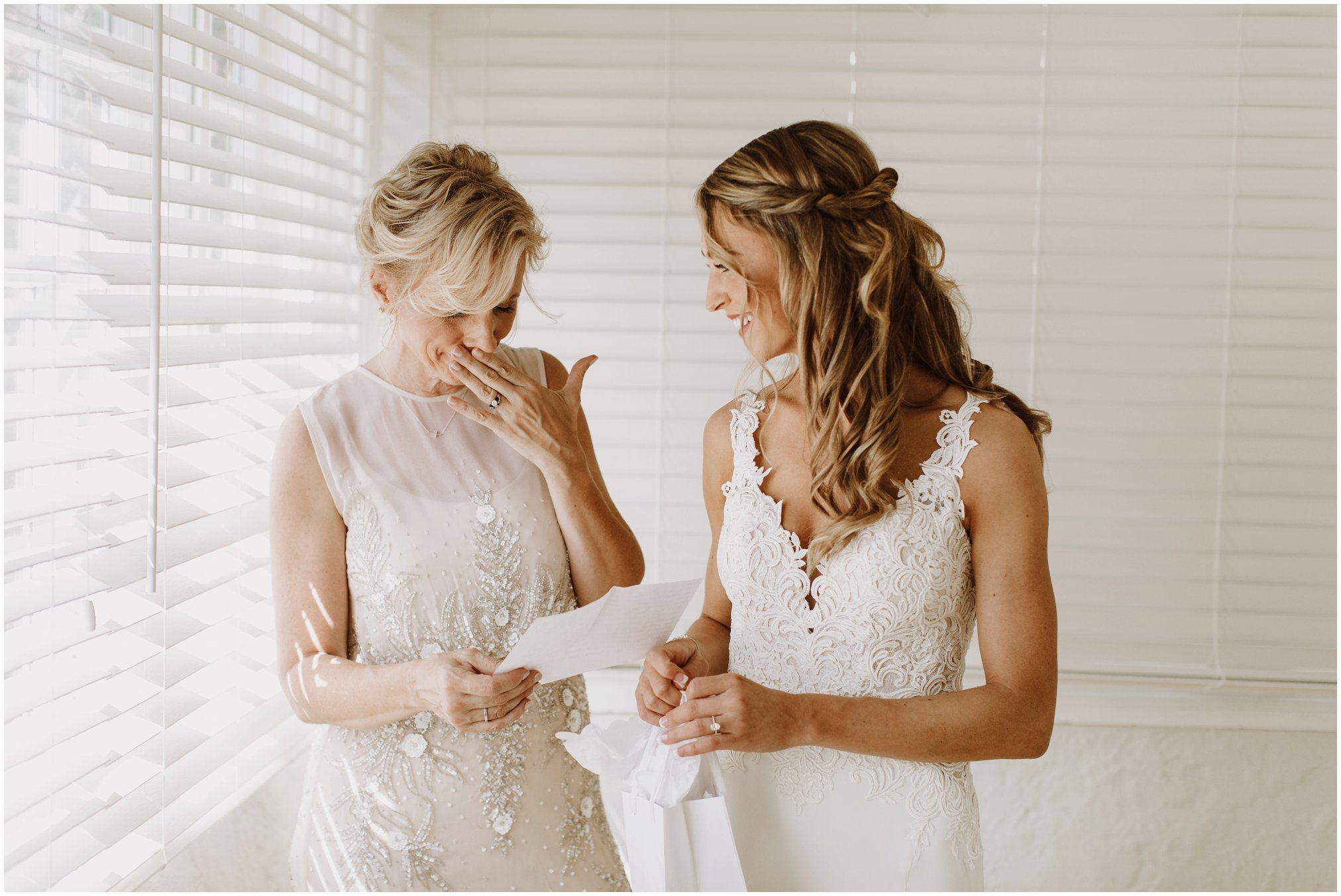 Emotional Bride and Mom Pictures