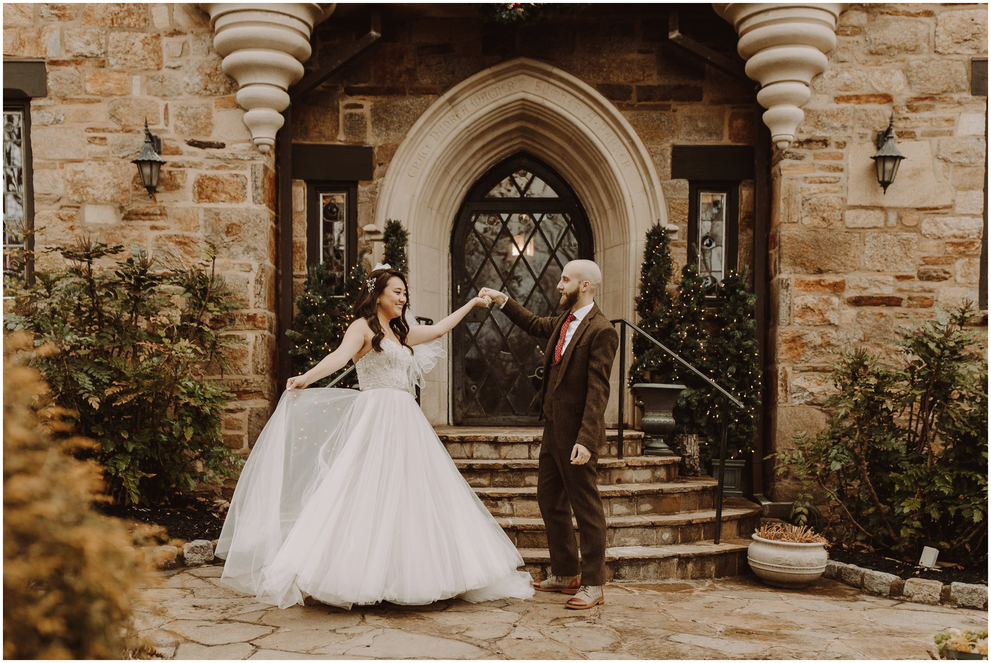 Harry Potter Christmas Wedding at Cloisters Castle