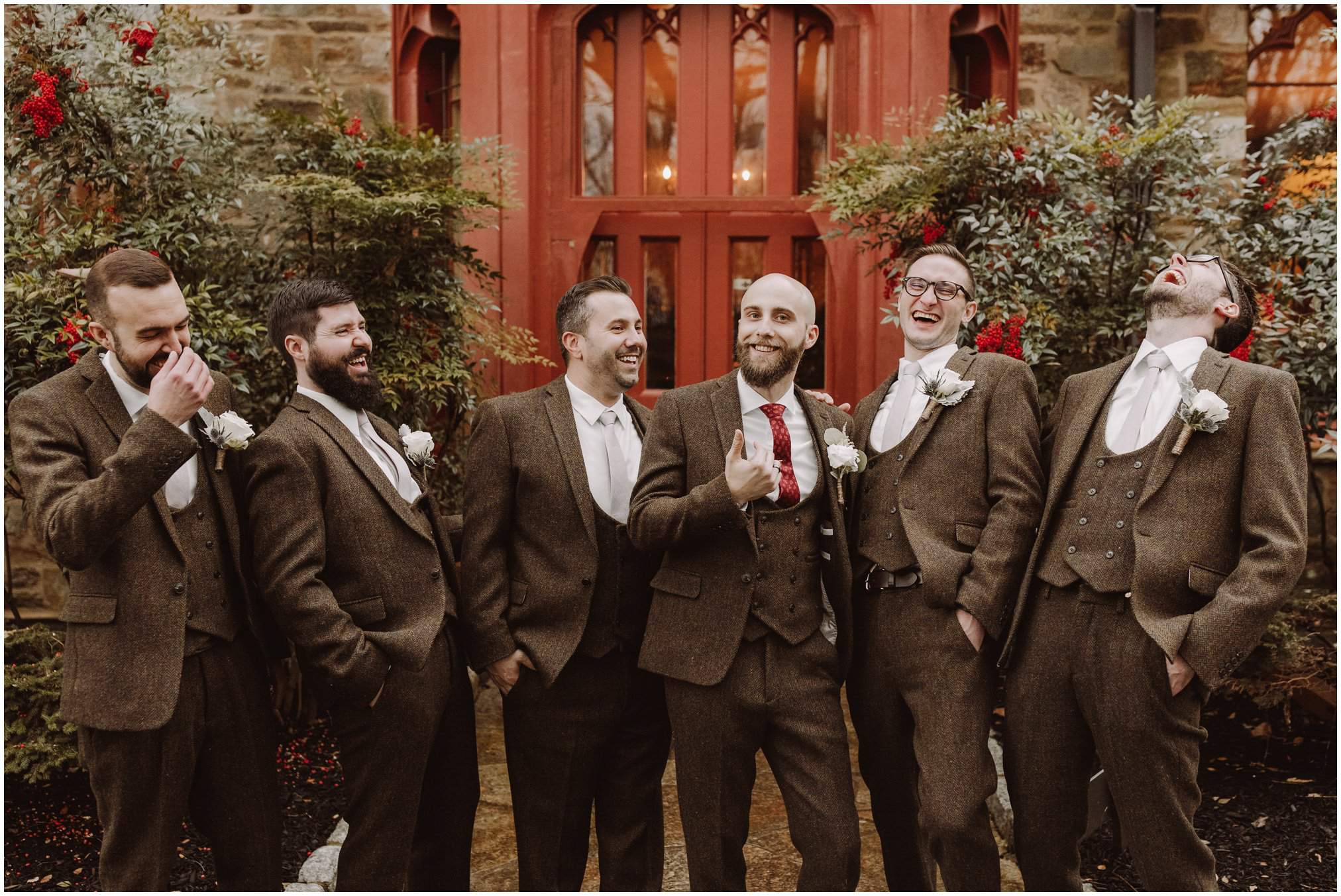 Harry Potter Themed Wedding Groomsmen Pictures