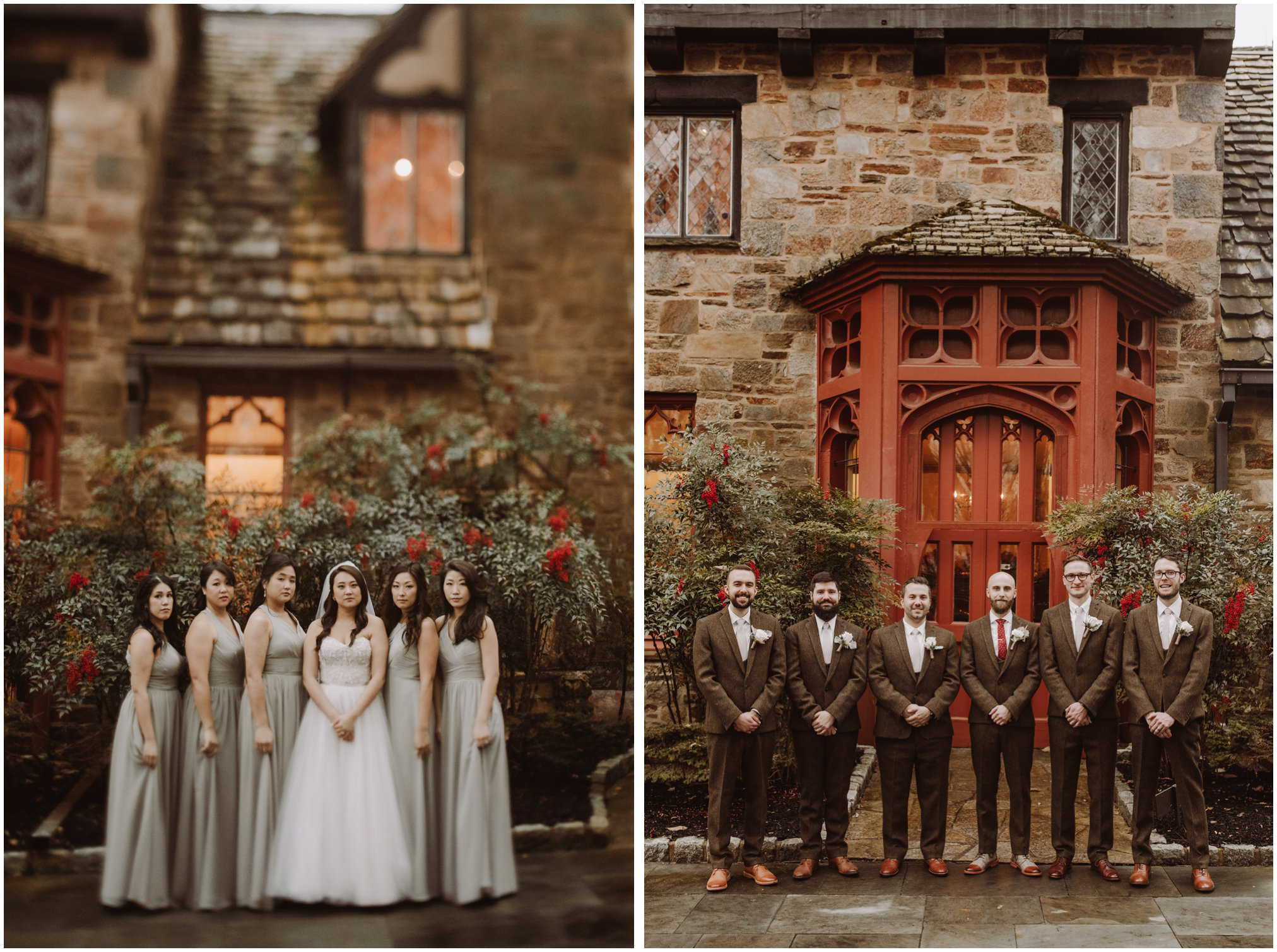Bridal Party Pictures at Cloisters Castle