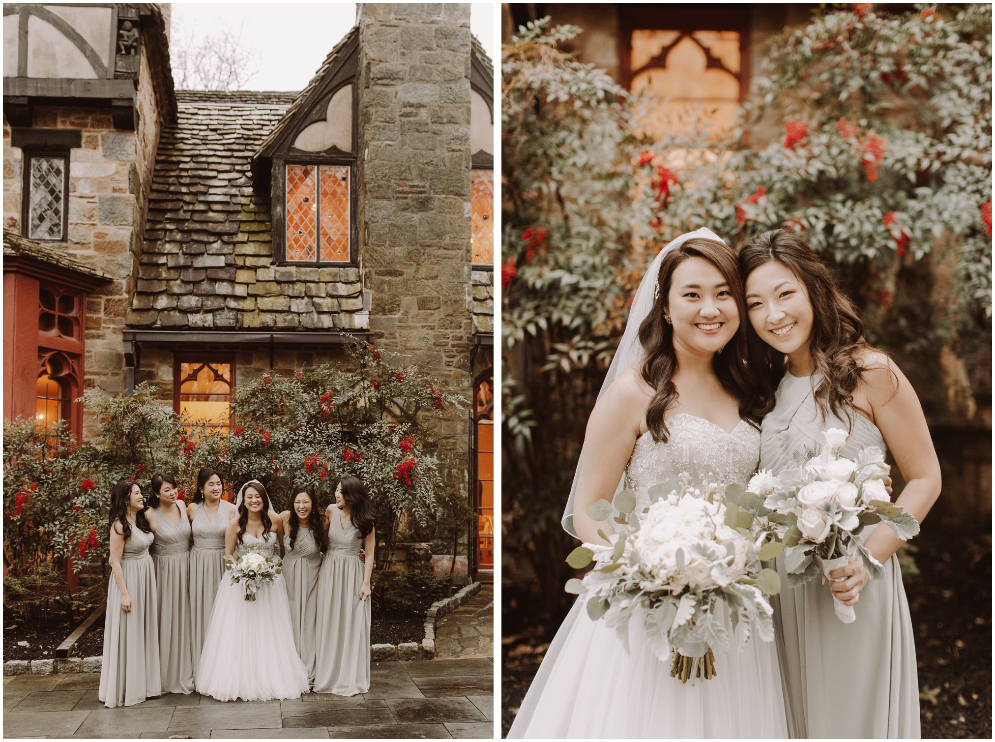 Bridesmaids Pictures at Cloisters Castle