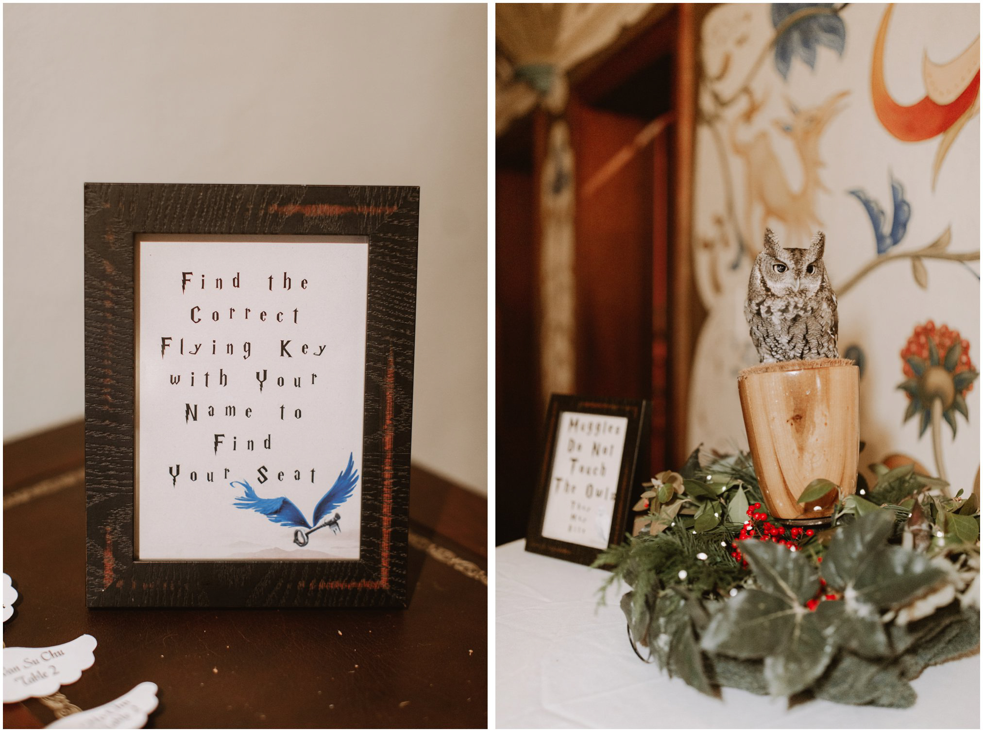 Harry Potter Themed Wedding With Hedwig Owl